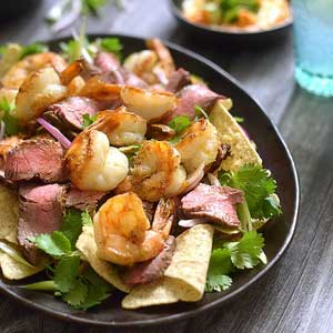 Easy Surf n Turf Nachos Dinner Recipe.