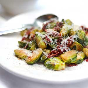 Brussel Sprouts W Sundried Tomatoes & Parmesan by Chef Mike Ward