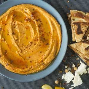 Sun Dried Tomato and Feta Hummus recipe