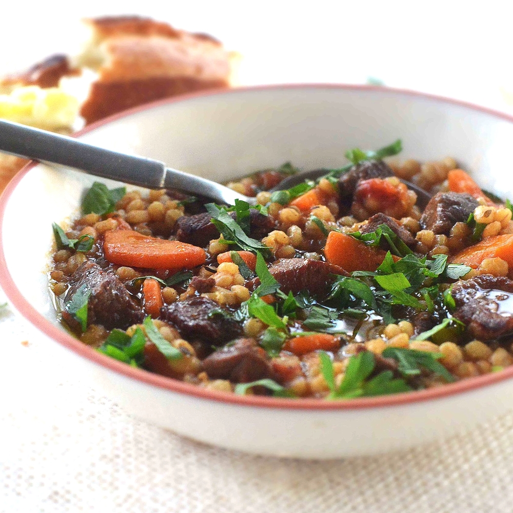 """Beef & Barley """"Soupy Stew"""" by Chef Mike Ward"""