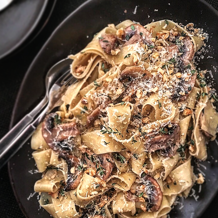 Mushroom, Thyme & Walnut Pasta by Chef Mike Ward