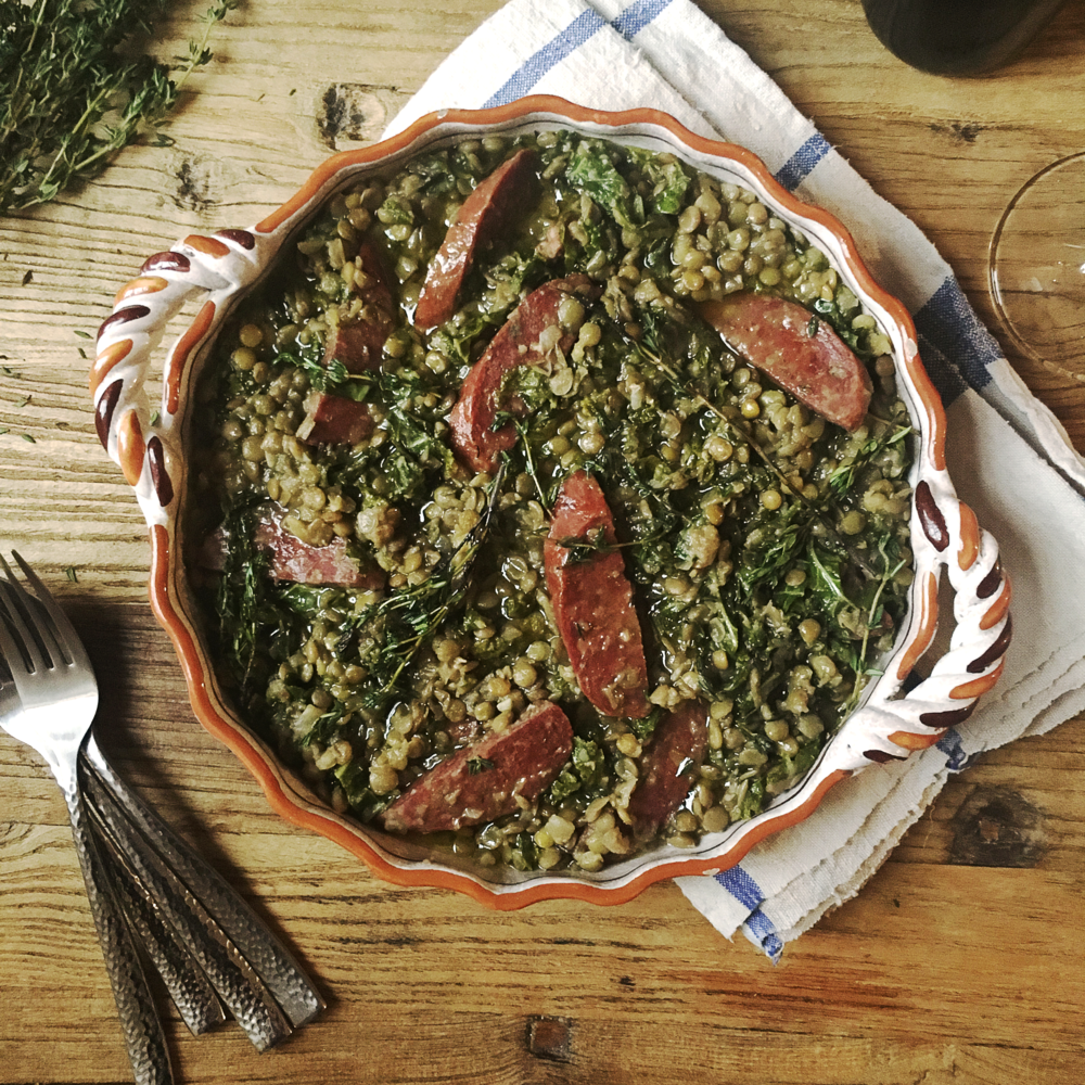 Lentil, Chorizo & Kale Cassoulet by Chef Mike War