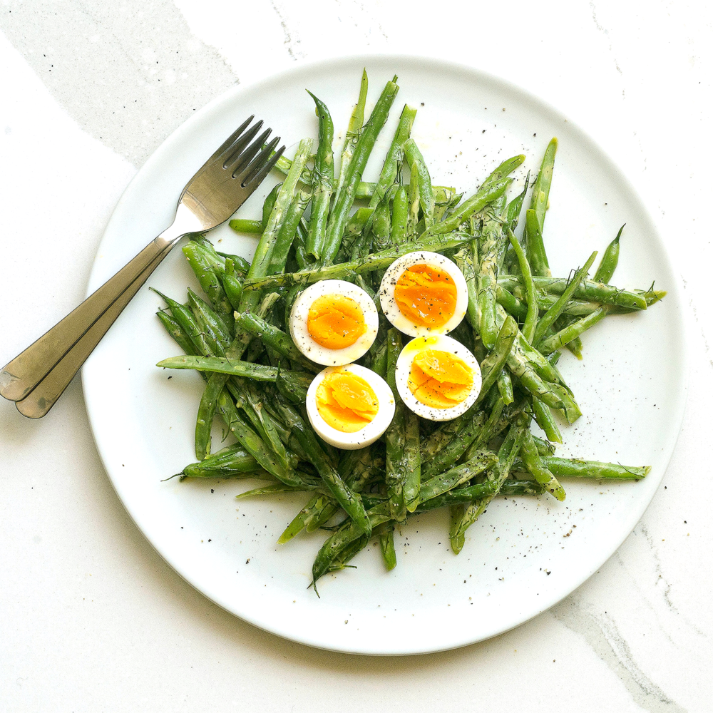 Beans w Dill Vinaigrette & Egg by Chef Mike Ward