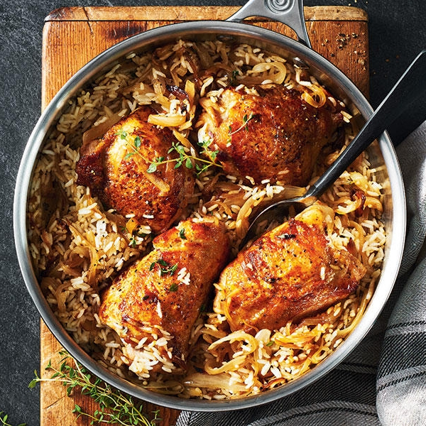 5 Ingredient Chicken, Rice & Thyme Biryani by Chef Mike Ward