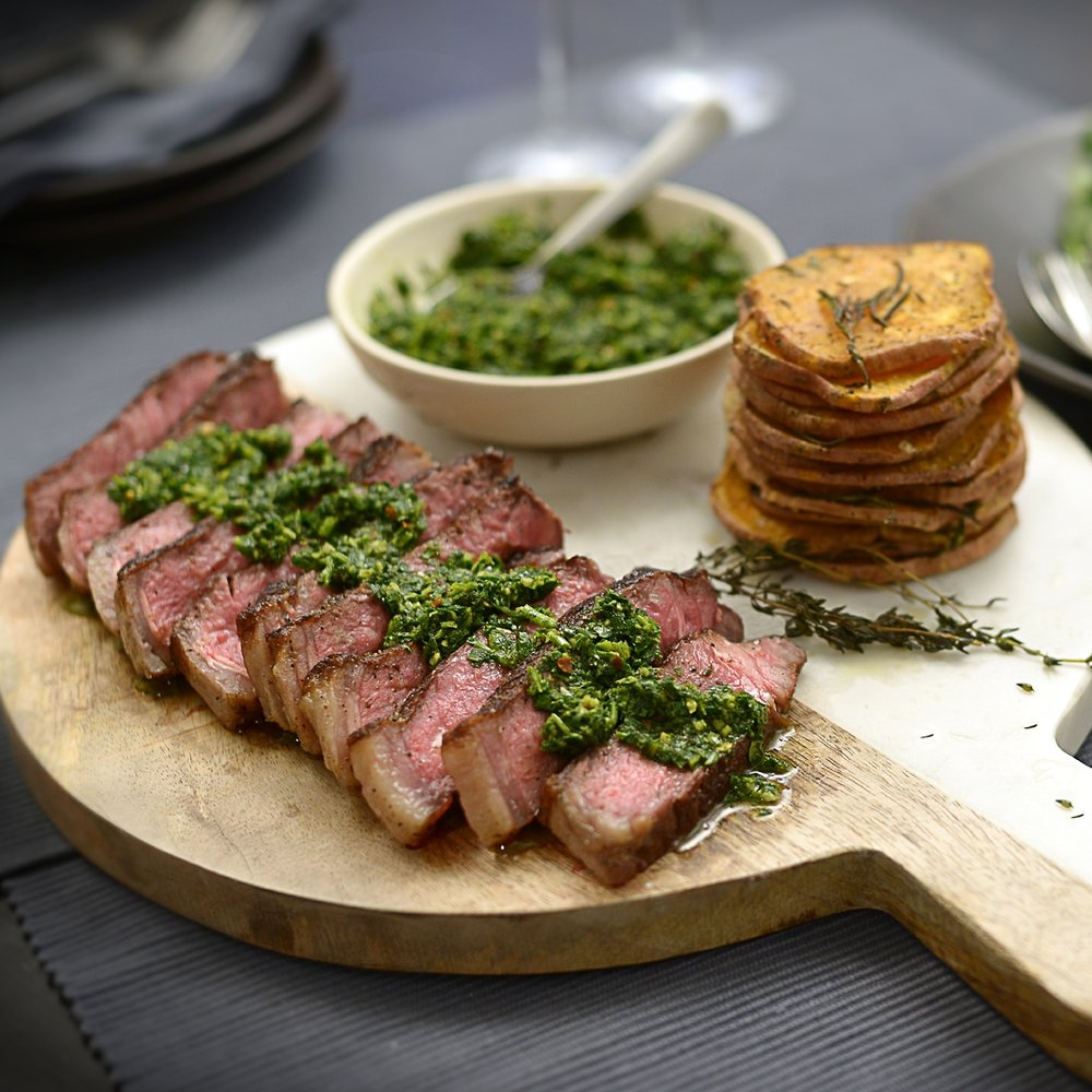 Argentinian Steak w Chimichurri & Sweet Potato by Chef Mike Ward