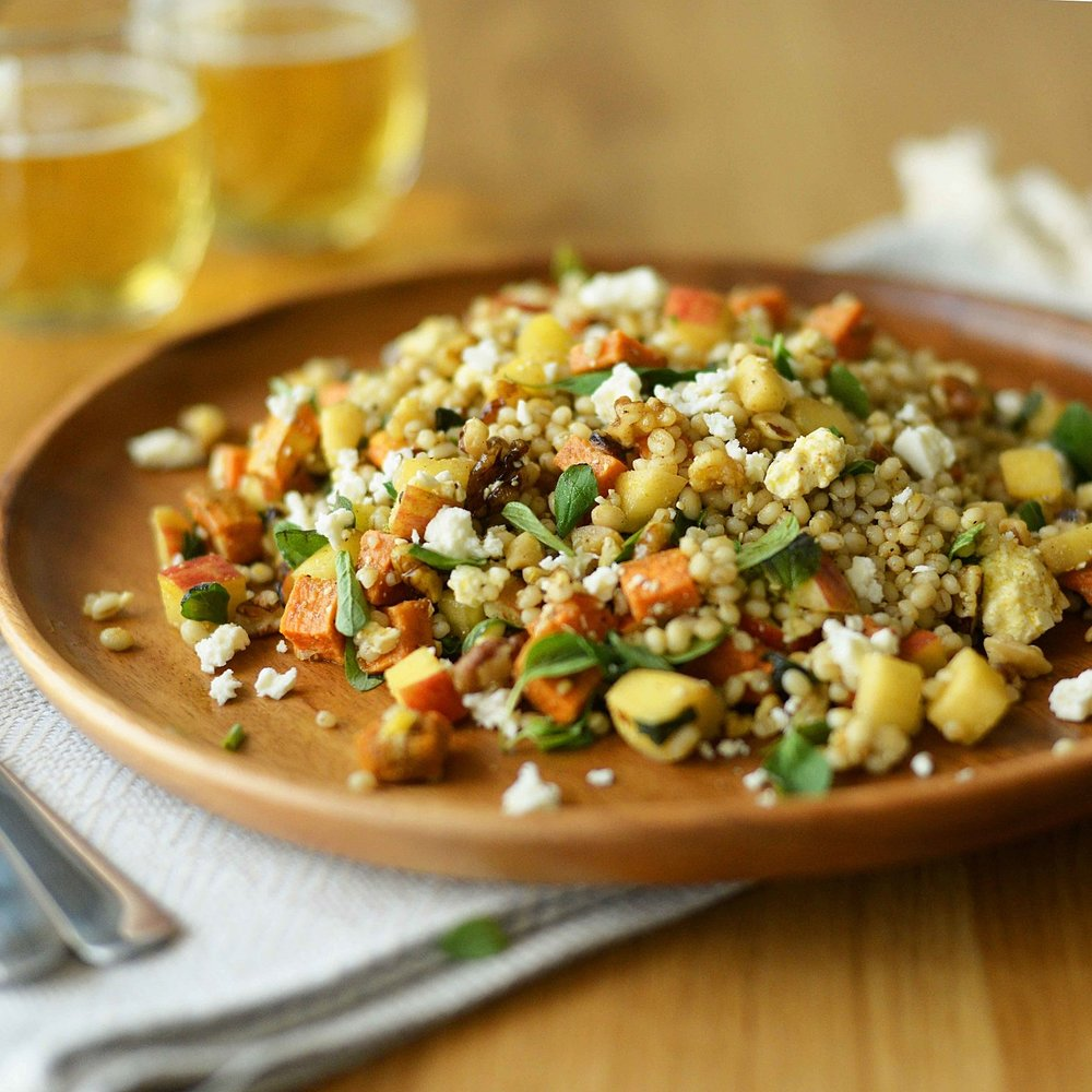 Sweet Potato & Barley Salad w Feta & Oregano by Chef Mike Ward