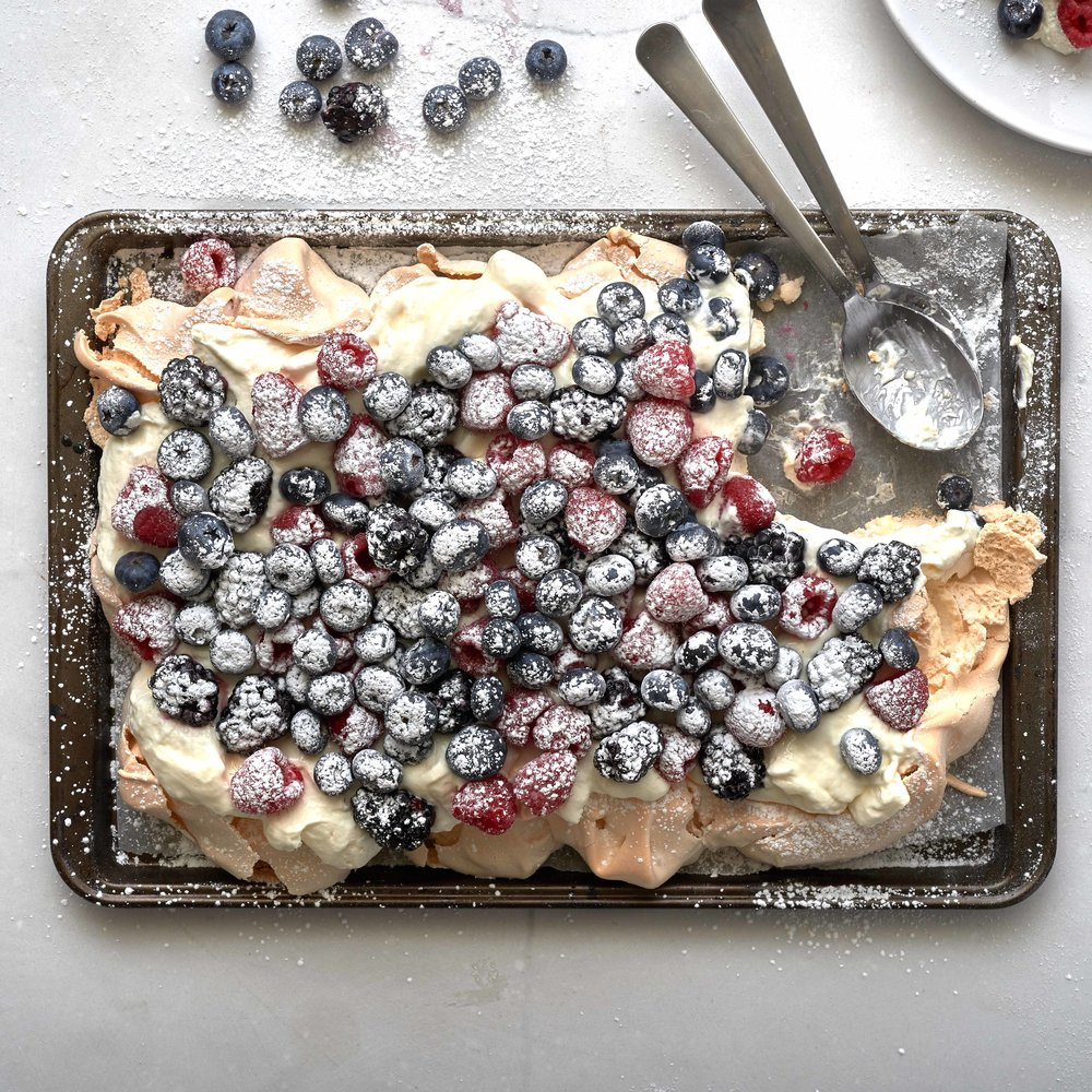Baking Tray Pavlova by Chef Mike Ward