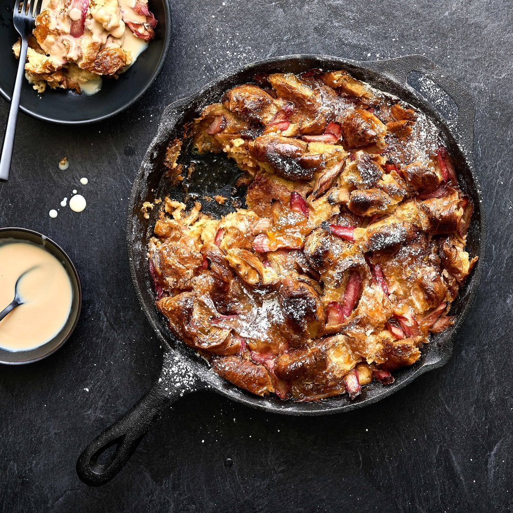Rhubarb & Marmalade Bread Pudding by Chef Mike Ward
