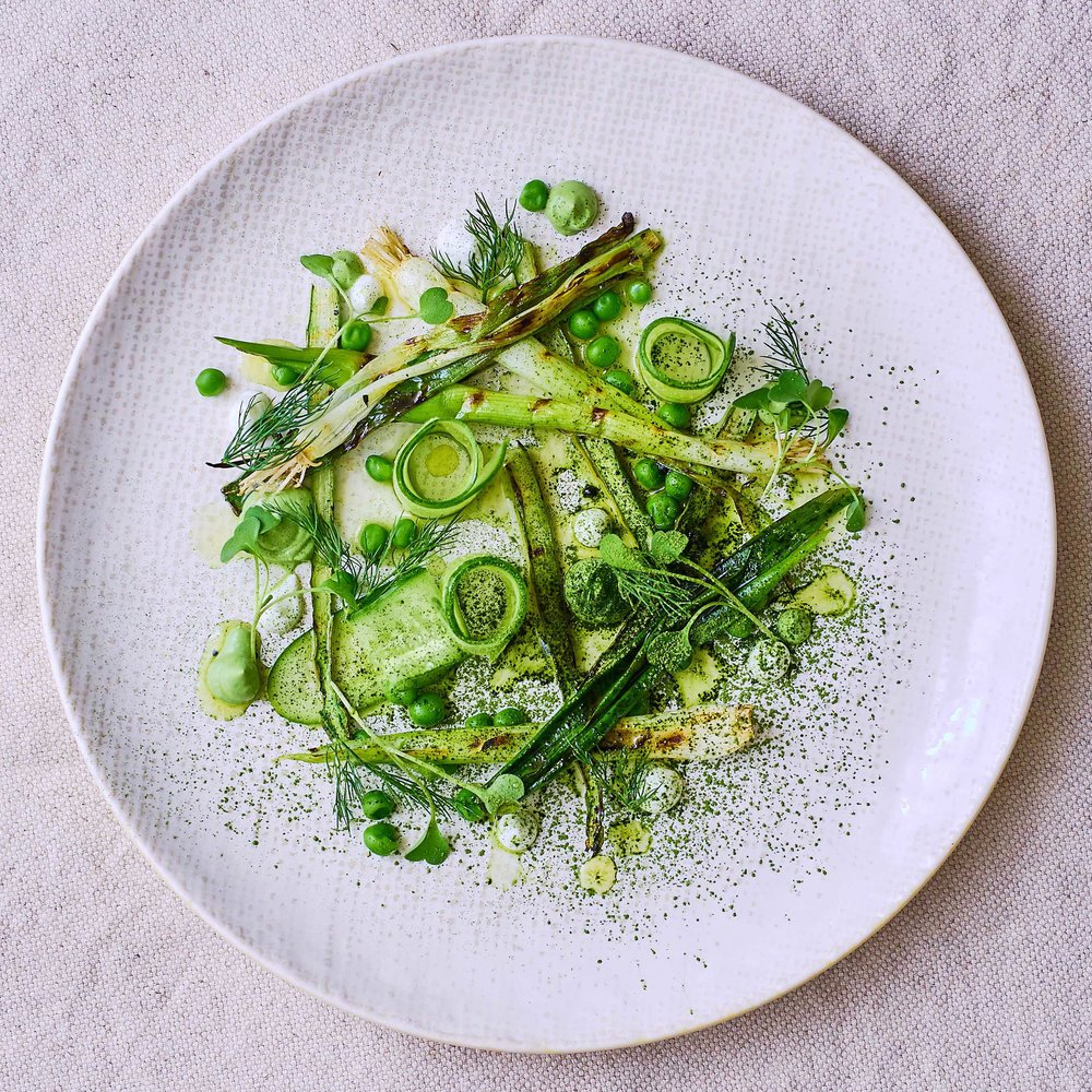Charred Matcha Salad by Chef Mike Ward