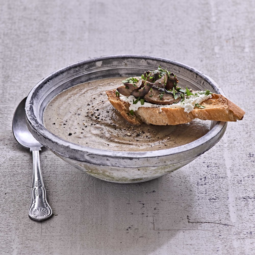 Mushroom & Thyme Soup by Chef Mike Ward
