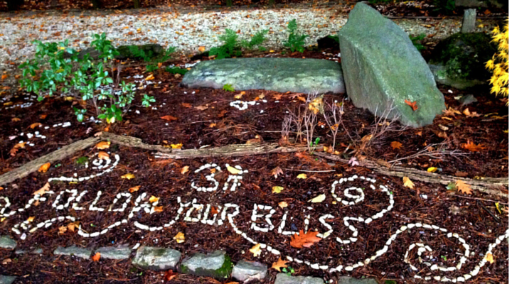 rock message by an anonymous lovely soul in the Kripalu meditation garden