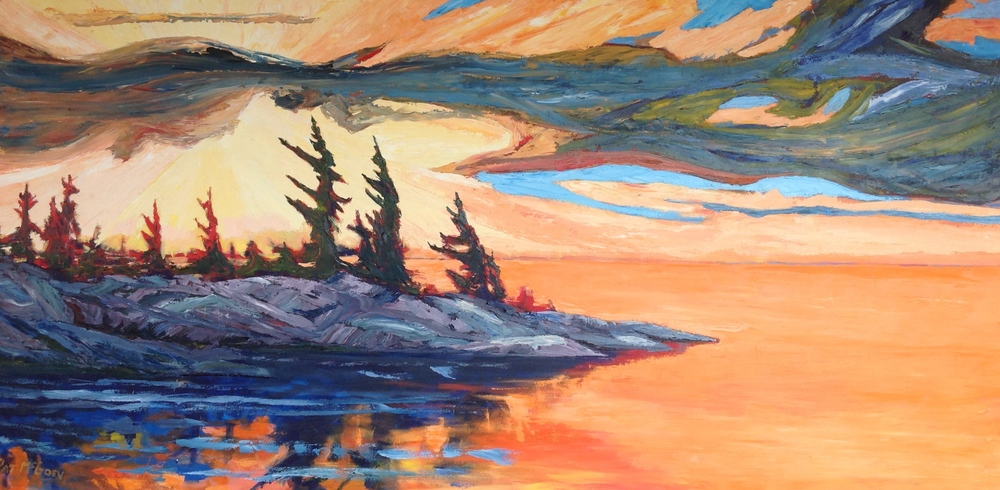 Georgian Bay, 36 X 72, Oil on Canvas