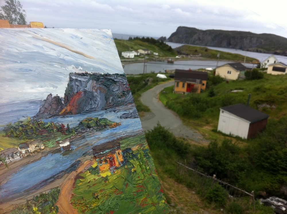 First painting in Newfoundland.