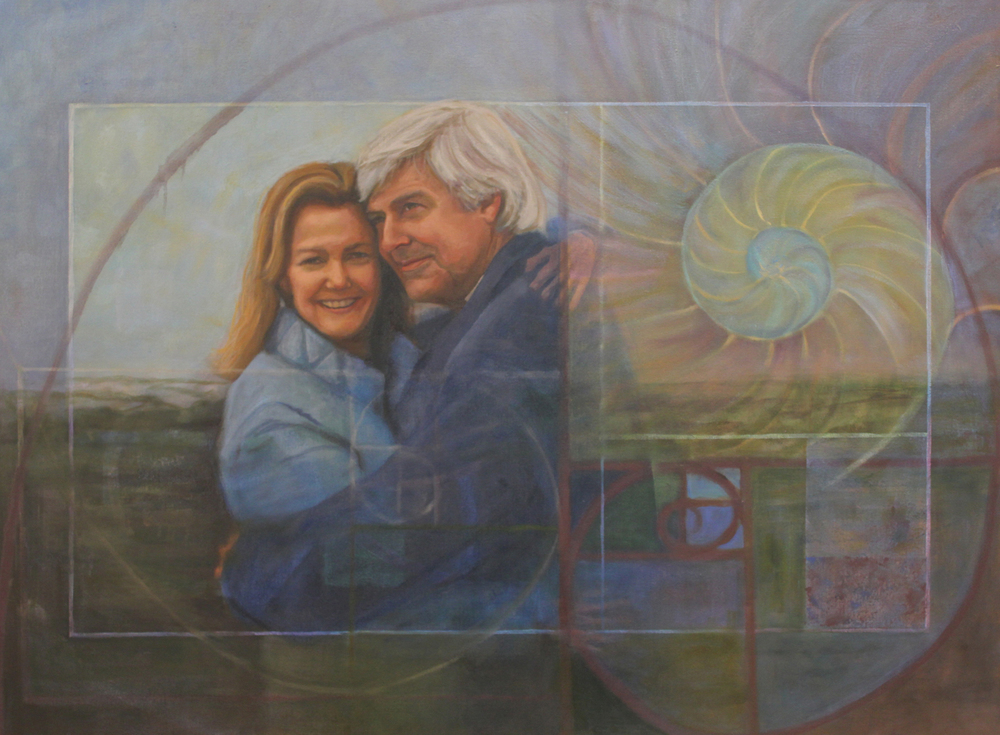 Mike and Mimi De Gruy, oil painting on canvas 30x40""