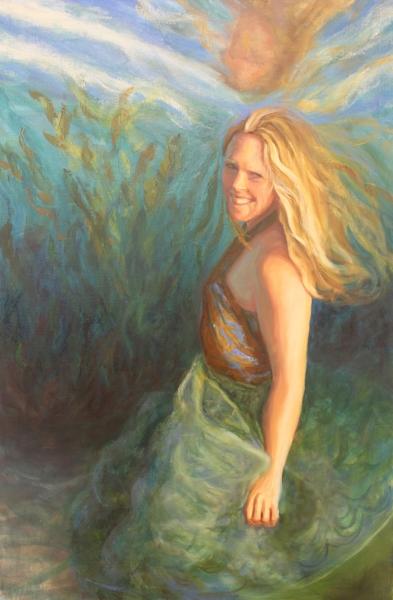 Stephanie Mutz, oil on canvas 24x36 by Holli Harmon