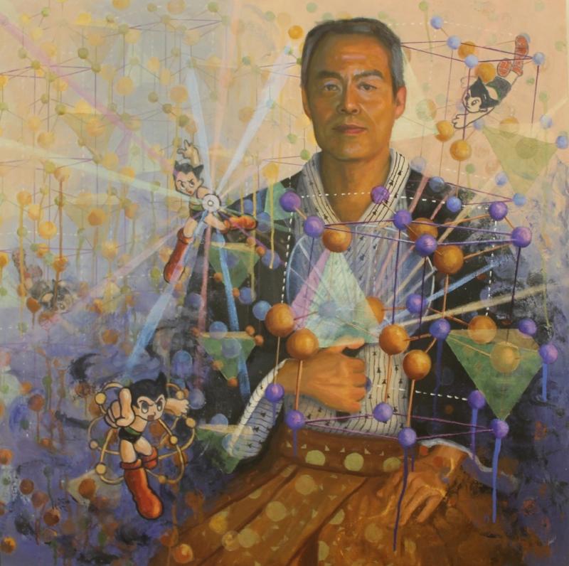 Dr. Shuji Nakamura, oil on canvas, 36x36, by Holli Harmon