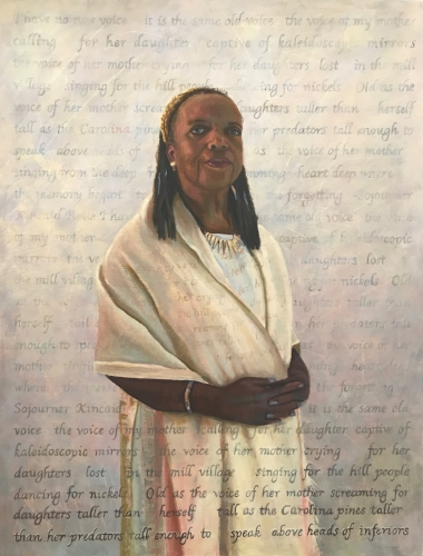 "Sojourner Kincaid Rolle, oil on canvas, 26x34"" by Holli Harmon"