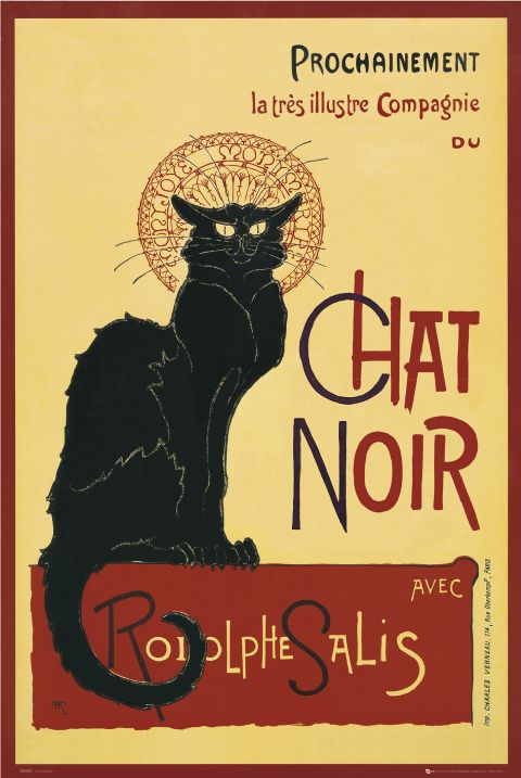 From 1896,  Théophile Steinlen's famous poster