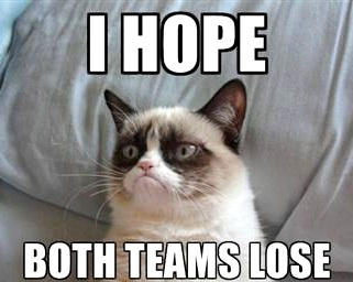 Grumpy Cat weighs in on the Super Bowl…