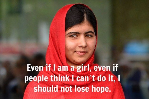 Chattitude is everything, and no one knows that better than Malala.