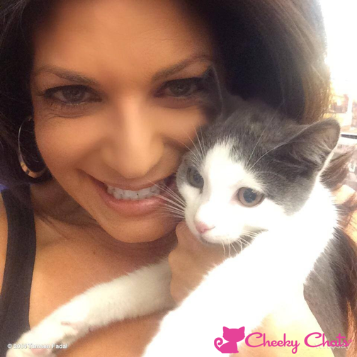 """Cheers to Cheeky Chats Fan  tamsenfadal  WPIX11 news anchor and host of Broadway Profiles holding Alfonso the Broadway kitty!   Alfonso was a stray rescued by the Humane Society.   He now has a starring role along side the lovely  rosebyrne-fr  in the Broadway revival of """"You Can't Take it With You.""""             0     0     1     52     300     Icebreaker Entertainment, LLC     2     1     351     14.0                           Normal     0                     false     false     false         EN-US     JA     X-NONE                                                                                                                                                                                                                                                                                                                                                                                                                                                                                                                                                                                                                                                                                                                   /* Style Definitions */ table.MsoNormalTable {mso-style-name:""""Table Normal""""; mso-tstyle-rowband-size:0; mso-tstyle-colband-size:0; mso-style-noshow:yes; mso-style-priority:99; mso-style-parent:""""""""; mso-padding-alt:0in 5.4pt 0in 5.4pt; mso-para-margin:0in; mso-para-margin-bottom:.0001pt; mso-pagination:widow-orphan; font-size:12.0pt; font-family:""""Cambria"""",""""serif""""; mso-ascii-font-family:Cambria; mso-ascii-theme-font:minor-latin; mso-hansi-font-family:Cambria; mso-hansi-theme-font:minor-latin;}        See Alfonso's review in the  nypost   http://goo.gl/IYBsck"""