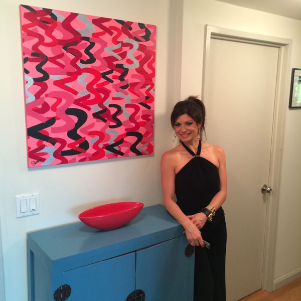 "SOLD!  My latest painting, ""Love is Greater Than"" is now hanging in the home of my favorite Emmy-winning NYC News Anchor, tamsenfadal www.christiscofield.com"