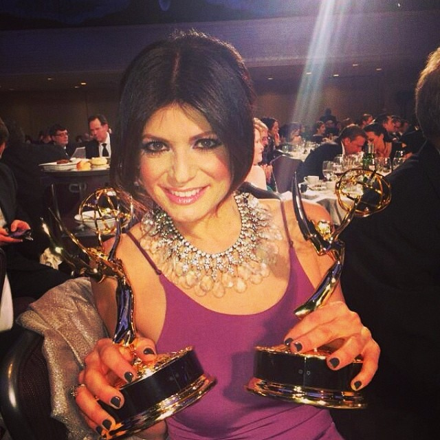 Congratulations to @tamsenfadal for your THREE #Emmy wins tonight! So proud of you! Well deserved! @wpix11