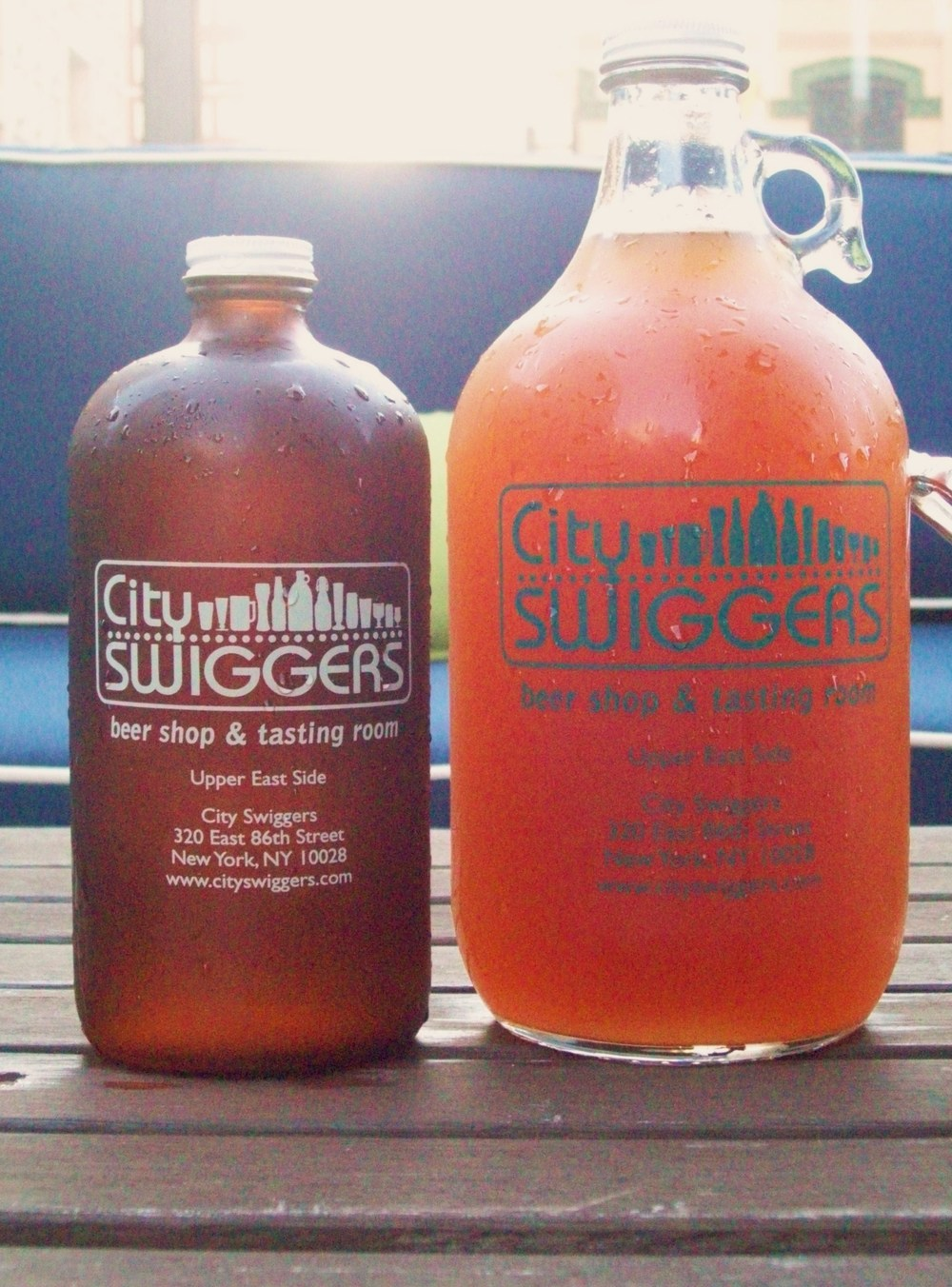 Growlers from City Swiggers