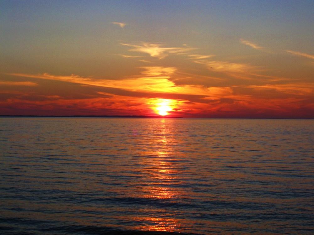 Navy Beach Sunset