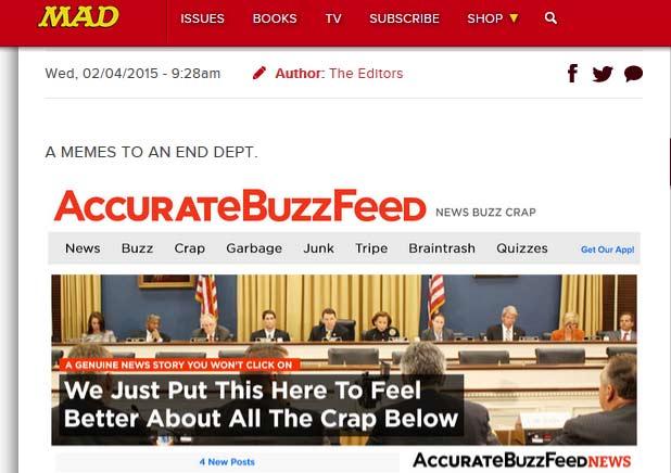 MAD Magazine's version of Buzzfeed