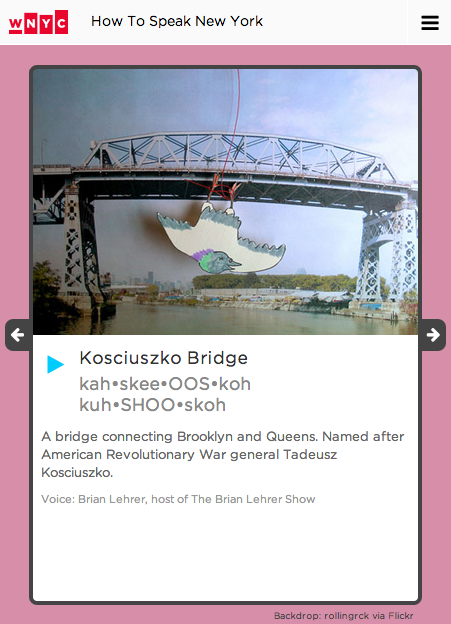 datanews: Kosciuszko, Van Wyck, Moonachie. Here's our guide to speaking New York and New Jersey, and our segment on Brian Lehrerwhich includes many more difficult names! What do you think? What are we missing? Let us know @datanews!