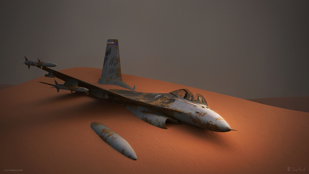 F16 modeled in Maya 2015, textured in Substance Painter, rendered in Mental Ray for Maya.