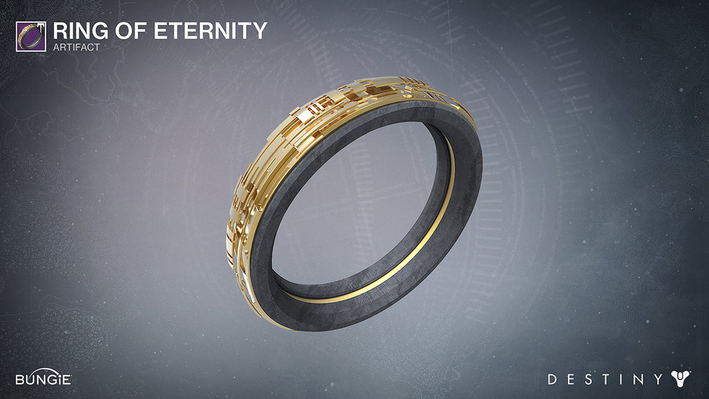 Got the opportunity to create a Vex-inspired wedding band in Destiny. I ended up modeling the band in Maya, rendering it in KeyShot and adding subtle textures in Photoshop. Congratulations to Adriel Wallick and Rami Ismael on your recent wedding engagement!