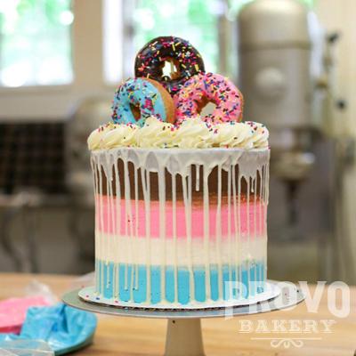 Donut Birthday Cake — Provo Bakery