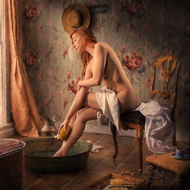Degas bathing tribute image ....