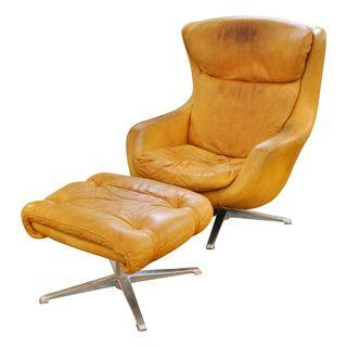 Ordinaire Leather Egg Chair