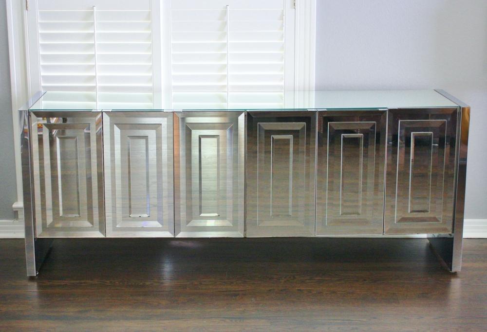Ello Vintage Mirrored Cabinet Console
