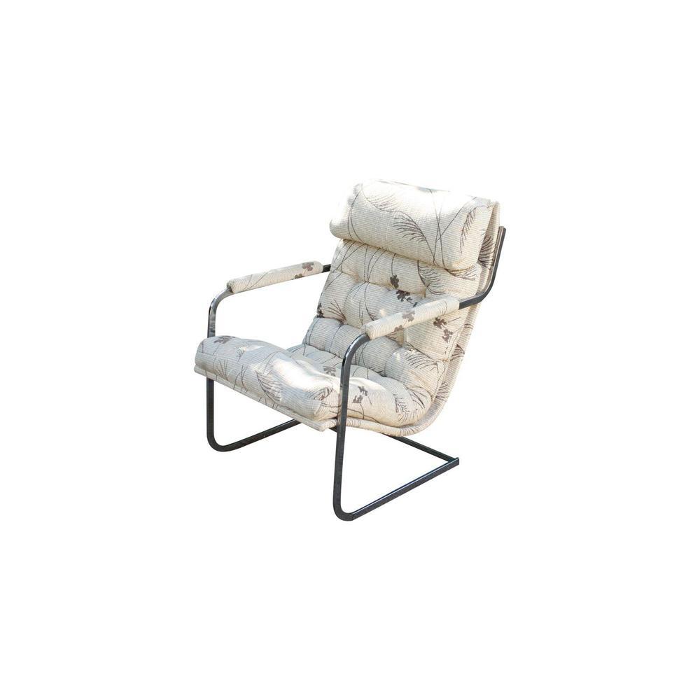 Milo Baughman Chrome Chair