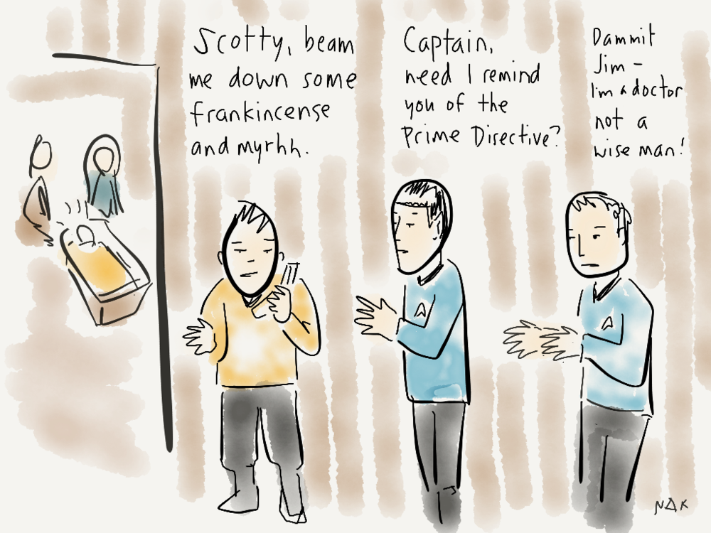 In which the Enterprise gets into one of those time travel dilemmas.