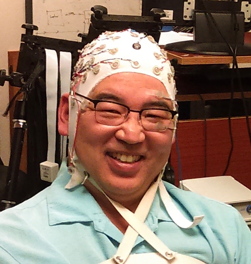Getting an EEG to test whether my brain works. It does!
