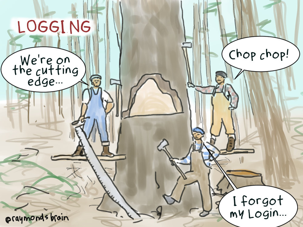 Logging was another resource industries in British Columbia that attracted Japanese men as labour from the late 1800s. Again, they would often work with others from their home prefecture and rely on bosses who dealt with the companies.  This drawing is based on a photo from the  Sedai website  taken around 1910 in Chemainus on Vancouver Island in British Columbia