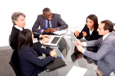 Multi Ethnic Team During Meeting