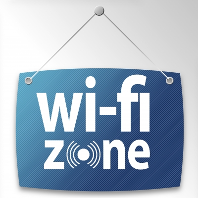 WiFi Zone Sign - Credit: Salvatore Vuono @ freedigitalphotosnet