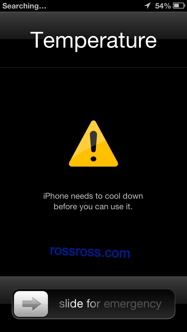 What happens when your iPhone gets too hot - This Screen Pops up