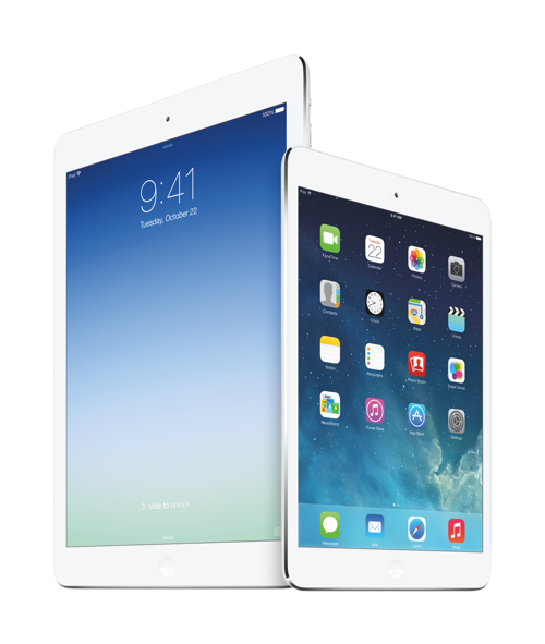 Apple iPad Air and iPad Mini Rentina - photos via Apple PR