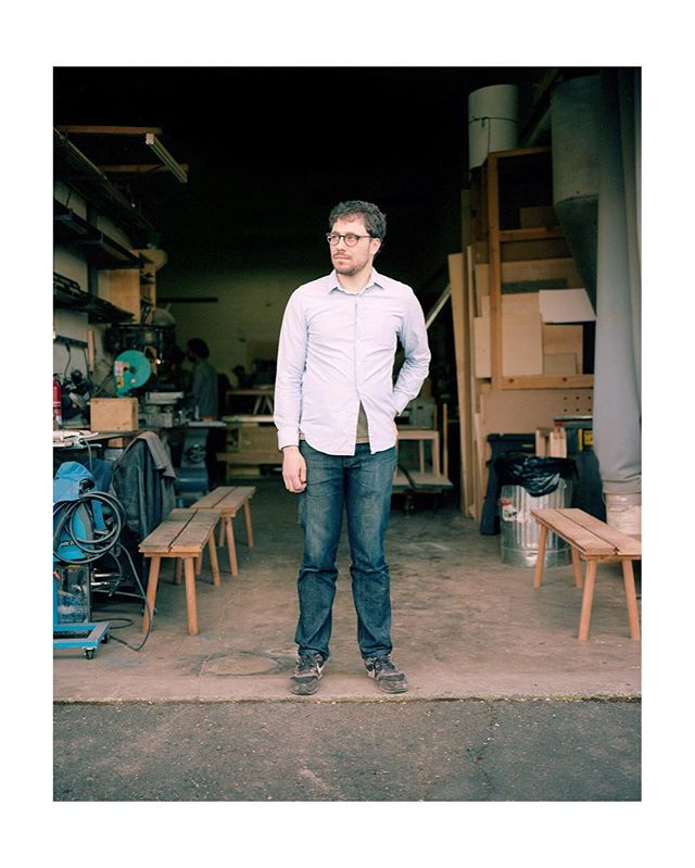 Contemporary craftsman and designer Nick Tretiak outside of his shop in SE Portland.  I recently had the pleasure of collaborating with him in the studio, shooting some of his beautiful new pieces. I can't wait to share the final images, but in the meantime head over to @tretiakworks for a little video sneak peek behind the scenes.