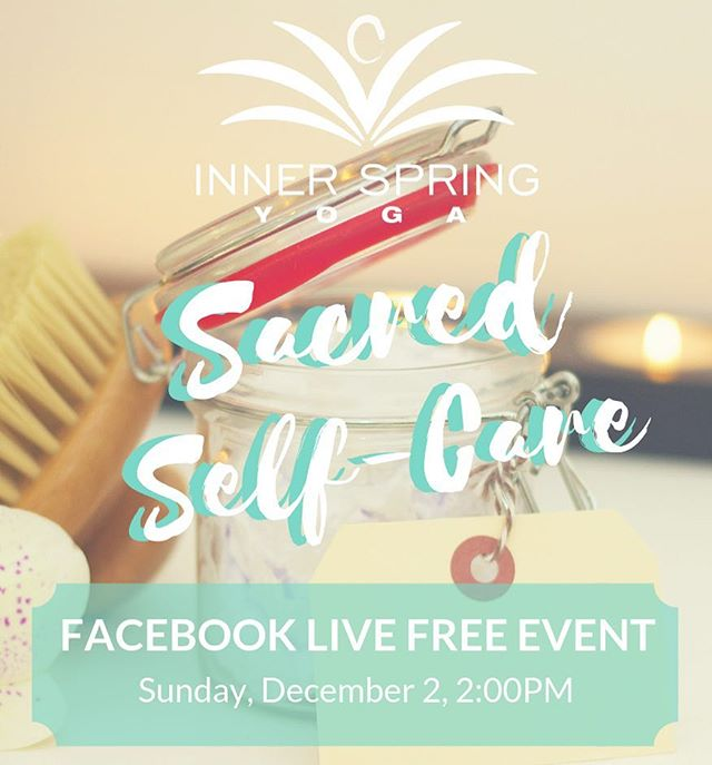 We're hosting a FREE Facebook Live event on Saturday, December 2!  Don't save your self-care for the weekends or for a treat. Make self-care a part of your daily routine. In this free event learn sustainable daily rituals to care for your body, mind, and soul.