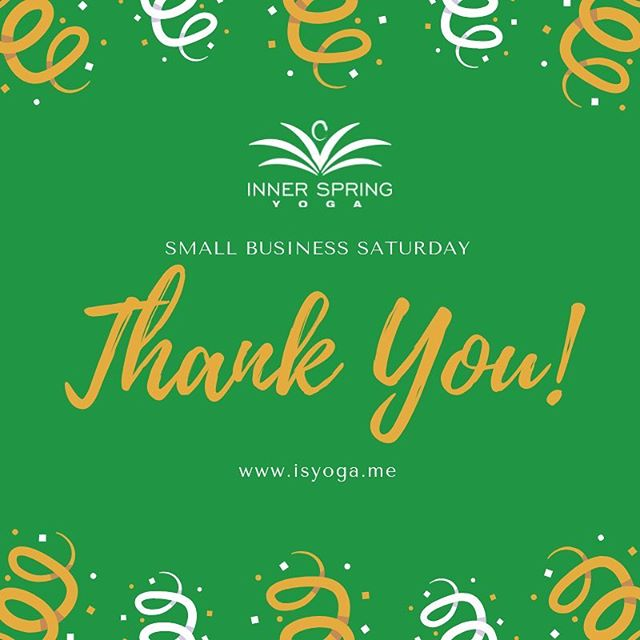 Thank you to all of our friends and neighbors who came out today and made our Small Business Saturday a huge success. Your loyalty and support is so appreciated 🙏🏼💚🙏🏼