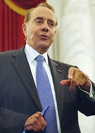 Bob Dole was promised a 30 day supply of boner pills! Don't make Bob Dole stab your jugular with this Bic!