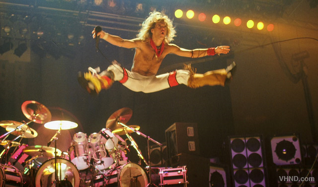 The man is not the best singer in the world, but let's see anyone pull of this outfit and jump!